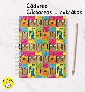 Caderno  Wire-o Cachorros Retratos