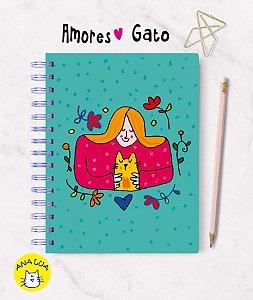Caderno  Wire-o  Amores GAto