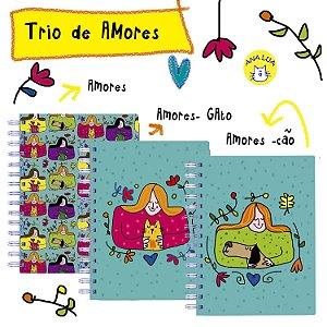 Caderno  Wire-o   Trio de Amores