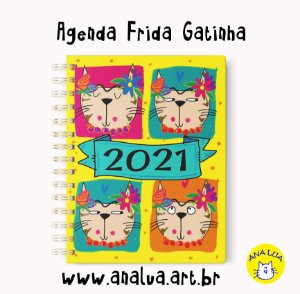 Agenda 2021 Frida GAtinha