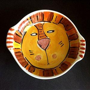 Travessa refratária  grande redonda Leão