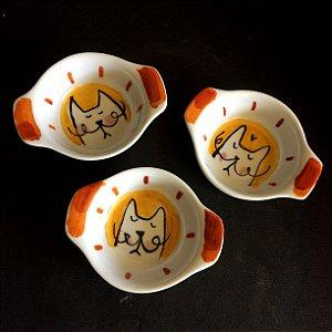Conjuntinho de 3 mini travessas refratárias -  Sr. Gato
