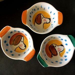 Conjuntinho de 3 mini travessas refratárias -  CAchorrinhos