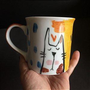 Caneca  A vida é melhor com Gatos -2
