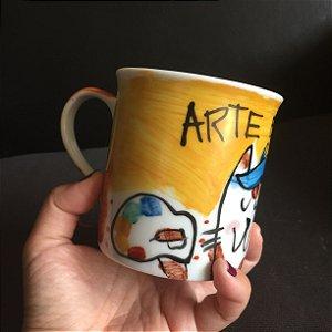 Caneca Gato Artista