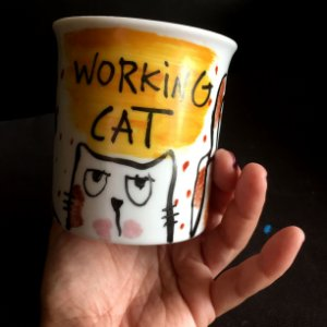 Caneca Working Cat