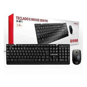 Teclado e mouse s/ fio C3-Tech