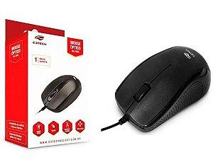 Mouse Usb Optico 1000dpi Ms-20bk Preto - C3tech