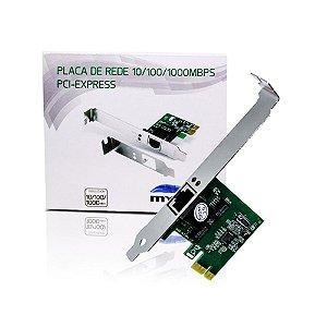 Placa de Rede PCI-Express Mymax 10/100/1000