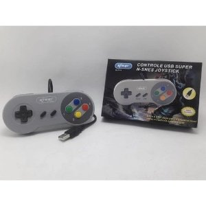 Controle Do Super Nintendo Snes Usb Retro