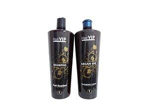 Argan Oil Tratamento Capilar Matizador Sem Formol 1L HairVIP (2 passos)