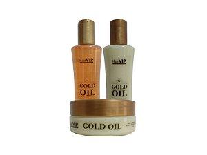 Kit Gold Oil HairVIP (3 passos)