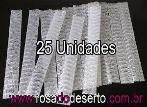 25 redes plasticas para proteção de vagens de sementes de rosa do deserto