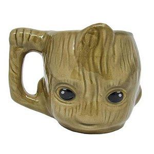 Caneca 3d Baby Groot Marvel Vingadores Avengers Guardiões
