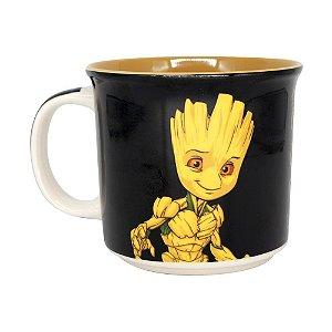 Caneca Tom Groot Guardiões Galaxia Avengers Marvel Comics