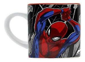 Caneca Cubo Spider Man Homem Aranha Marvel Disney 300ml