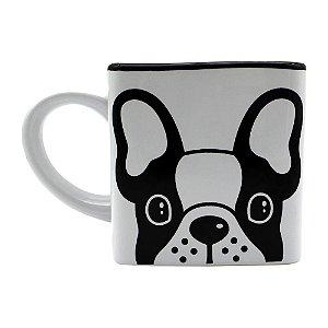Caneca Cubo Bulldog Cachorrinho 300ml - Zona Criativa
