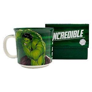Caneca Tom Hulk Tie Die 350ml Vingadores Avengers Herois