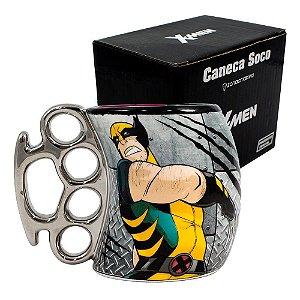 Caneca Soco Inglês 350ml X-men Wolverine Marvel Vingadores