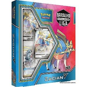 Jogo Cartas Box Pokemon Zacian V Baralho Batalha De Liga Tcg