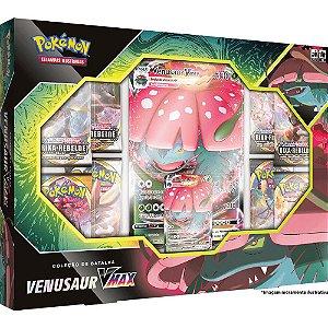 Jogo Cartas Box Pokemon Coleçao Batalha Venusaur Vmax Tcg