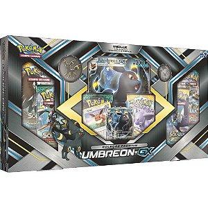 Box Pokémon Umbreon Gx Carta Gigante Com Moeda E Broche