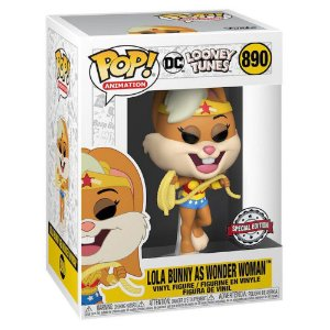 Boneco Funko Pop Lola Bunny Wonder Woman 890 Looney Tunnes