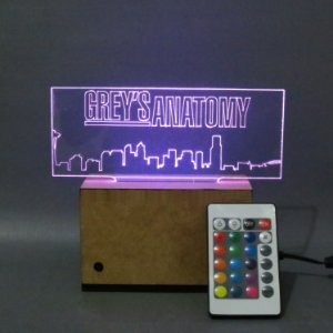 Luminária Acrílica Grey's Anatomy