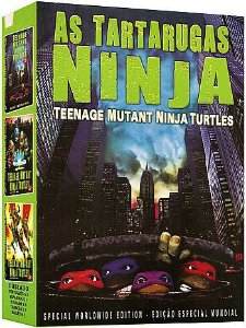 COLEÇÃO AS TARTARUGAS NINJAS - 3 DVDS