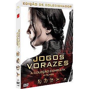 JOGOS VORAZES - BOX COM 4 DVDS