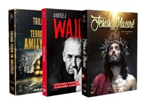 COMBO - JESUS DE NAZARÉ + TRILOGIA TERROR EM AMITYVILLE + ANDRZEJ WAJDA - ENTREGA PREVISTA PARA A PARTIR DE 15/04/2019