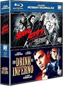 BOX BLU-RAY  - COLEÇÃO ROBERT RODRIGUEZ - SIN CITY + UM DRINK NO INFERNO