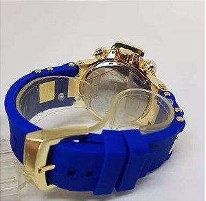 7ea81f15d73 Relógio invicta Masculino Dourado Multi Funcional Pesado
