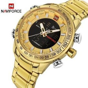 7506fd4ec8c Relogio naviforce dourado original top de linha