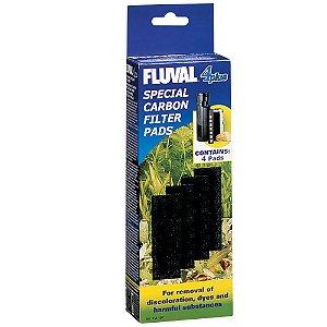 Refil 4 Placas De Carvão Fluval Para Qualquer Filtro