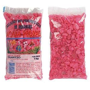 Substrato Cascalho de Quartzo Rosa Aqua Pedras