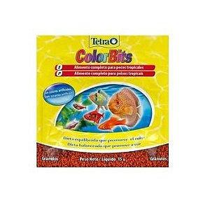Ração Para Peixes Tetra Color Bits Tropical Granules Sache 15g