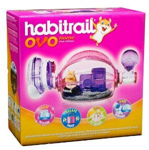 Gaiola Para Hamster Hagen Habitrail Ovo Rosa Habitrail