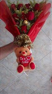 Ramalhete com 8 rosa CASCATA