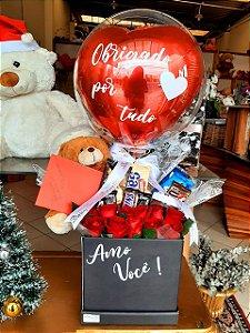 """Box Flowers """"Amo Você"""""""
