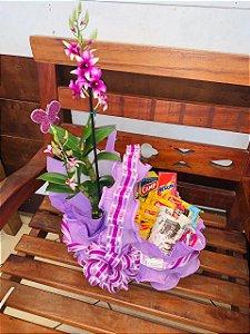 Cesta de Café c/ Orquídea