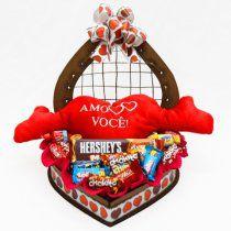 Baú Grande de Coração c/ Chocolate