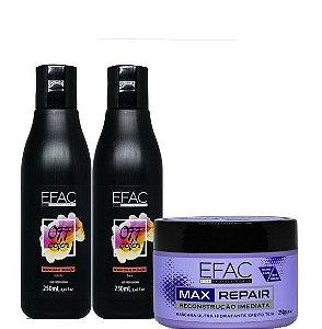Efac Kit Off Color Removedor de Coloração 250ml + Máscara Max Repair 250g