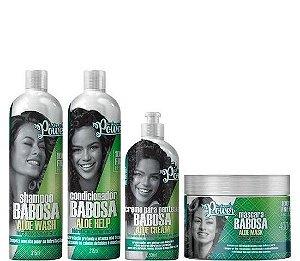 Soul Power Babosa Aloe Wash Kit Tratamento Cabelos Cacheados 4 itens