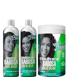 Soul Power Kit Shampoo 315ml + Condicionador 315ml + Creme Para Pentear Babosa 800g