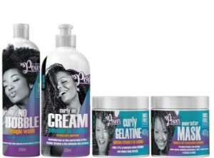 Soul Power Kit Curly Cream - Gelatine - No Bubble - Butter Mask