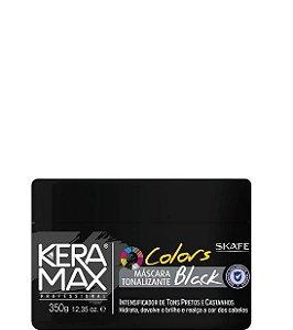 Skafe Keramax Colors Máscara Tonalizante Black Cabelos Pretos 350g