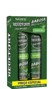 Skafe Regefort Babosa do Babado Kit Shampoo e Condicionador 2x300ml