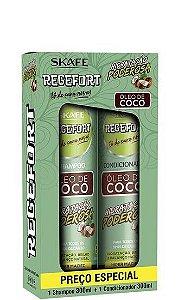 Skafe Regefort Hidratação Poderosa Óleo de Coco Kit Sh e Cond 2x300ml