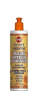 Skafe Natutrat SOS Creme para Pentear Óleos Nativos Africanos 300g